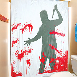 serial killer shower curtain for those with a hitchcokian fetish these are pretty damn awesome would go nicely with some red towels