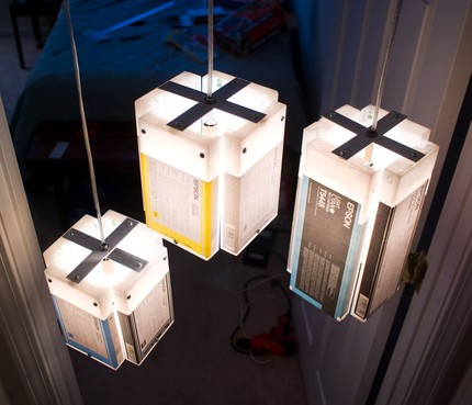 Светильники своими руками из подручных материалов мастер класс фото