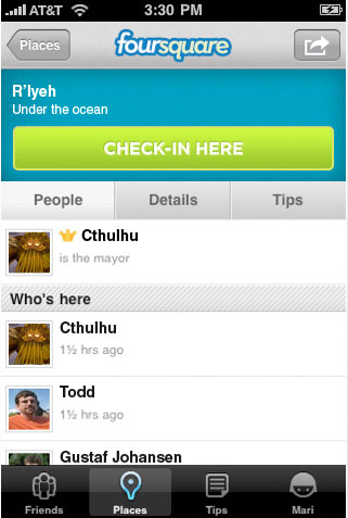 Cthulhu-fourquare