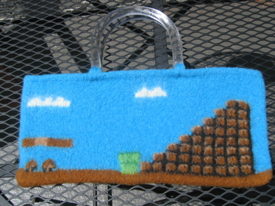 Super Mario Felted Knit Bag Domestic Geeks